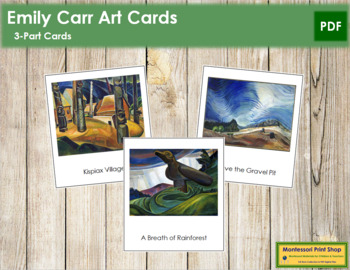 Carr (Emily) 3-Part Art Cards