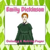 Emily Dickinson Coloring and Activity Book Pages - Good fo