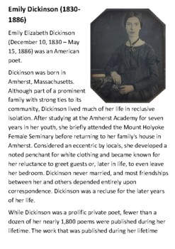 Emily Dickinson Handout