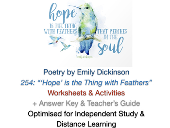 Emily Dickinson 'Hope is the Thing with Feathers'