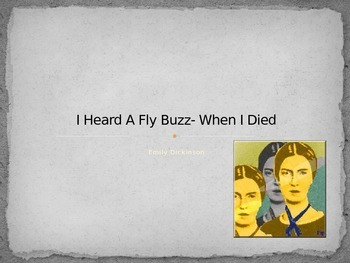 Emily Dickinson - I Heard a Fly Buzz When I Died analysis notes