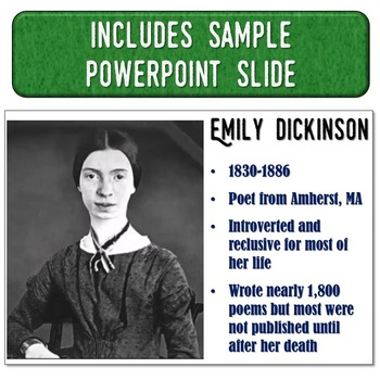 Emily Dickinson Magic Portrait Video & PowerPoint for Author Study
