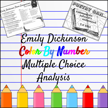 Emily Dickinson Color By Number Multiple Choice Analysis