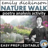 Emily Dickinson Nature Walk--Poetry Analysis Activity
