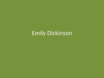 Emily Dickinson Poetry Analysis
