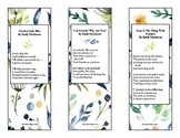 Emily Dickinson Poetry Bookmarks