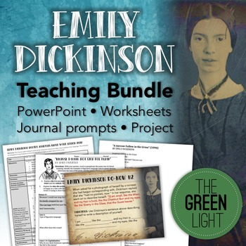 Emily Dickinson Poetry Worksheets, PowerPoint, Project, an