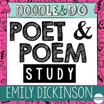 Emily Dickinson Study – Dickinson Doodle Article, Doodle Notes, Poem Flip Book