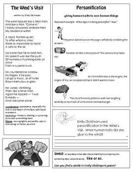 Emily Dickinson Teaching Activity Packet - 39 pages!