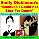 """Emily Dickinson Poetry """"Because I Could Not Stop for Death"""""""