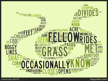 "Emily Dickinson's ""A Narrow Fellow in the Grass"" Word Cluster"