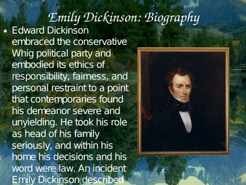 Emily Dickinson's Biography 28 Slide Powerpoint