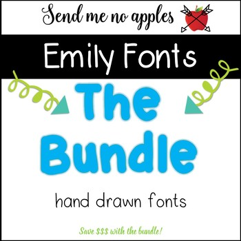 Emily Fonts BUNDLE - Commercial Use Personal Use OK