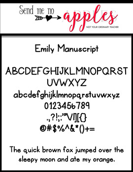 Emily Fonts - Manuscript {CUPU ok)