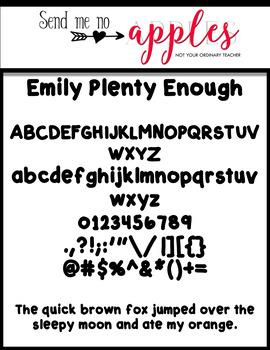 Emily Fonts - Plenty Enough {CUPU ok}