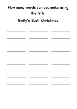 Emily's Bush Christmas