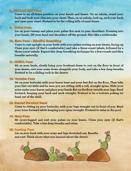 Yoga Desert Book for Kids - Emily's Day in the Desert