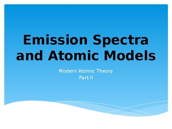 Emission Spectra and Atomic Models