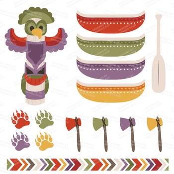 Be Brave Tribal Clipart & Vectors in Autumn - Tribal Clip Art, Totem Pole, Arrow