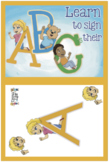 Emma and Egor Learn to Sign Their ABC's -- Alphabet Go Fis
