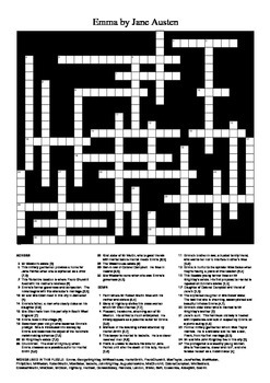Emma by Jane Austen - Crossword Puzzle
