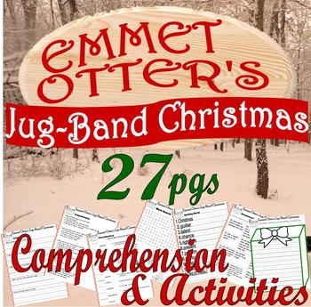 Emmet Otters Jug Band Christmas Book.Emmet Otter S Jug Band Christmas Comprehension Companion Fun Activity Packet
