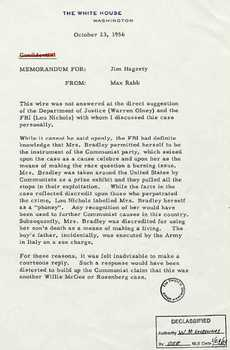 Emmett Till Murder FBI - White House - State of Mississippi Files,  Newspapers