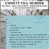 Emmett Till Murder FBI - White House - State of Mississippi Files,  Newspapers