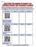Emmett Till Primary Source Document Analysis and QR Code Activity