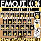 Emoji Alphabet Cards with Printed Letters