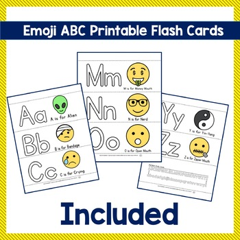 Emoji ABC - Trace, Color and have Fun teaching the Alphabet using Emojis