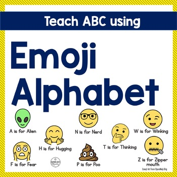 Emoji ABC - Trace, Color and have Fun teaching the Alphabe