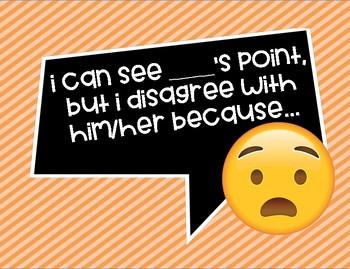 Emoji Accountable Talk Posters