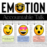 Emoji Accountable Talk Stems, Posters, and Task Cards