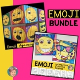 Emoji Activities BUNDLE (Agamographs & Coloring Sheets w/ Writing Prompts)
