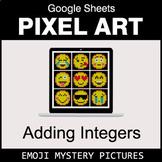 Emoji - Adding Integer - Google Sheets Pixel Art