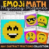 Emoji Adding and Subtracting Fractions | Fractions Color by Number