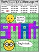 Emoji Addition Mystery Pictures | Addition Color by Number