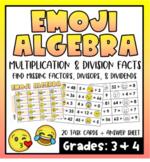Emoji Algebra- Multiplication & Division Facts