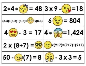 Emoji Algebra- Grade 5 (Order of Operations)