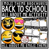 All About Me Brochure- Back to School Emoji Writing -First