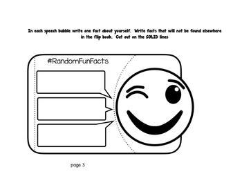 Emoji - All About Me Flip Book