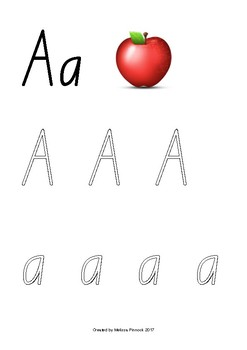 Emoji Alphabet Tracing (Outline) NSW Foundation Print