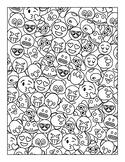 Emoji Animals Coloring Page