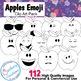 Emoji Apples Clip Art for Commercial Use