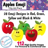 Emoji Apples Clip Art for Commercial Use