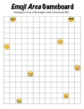 Emoji Area: 2-Player Game to Find the Area of Rectangles with a Fractional Side
