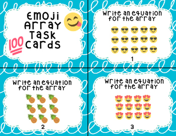 Emoji Array Task Cards