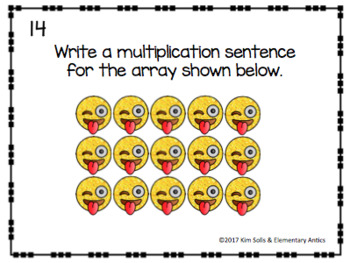 Emoji Array Task Cards {Multiplication & Repeated Addition}