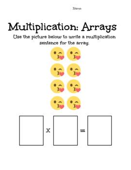 Emoji Array Worksheets
